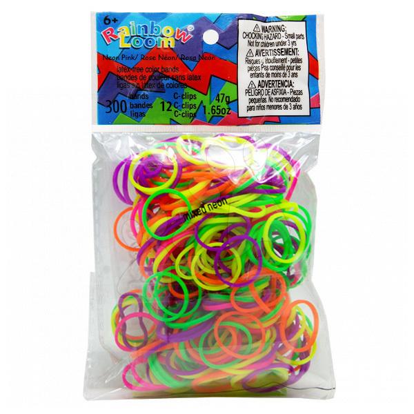 Rainbow Loom gumičky neonové - Rainbow Loom originálne gumičky neónový mix 300 kusov od 6 rokov