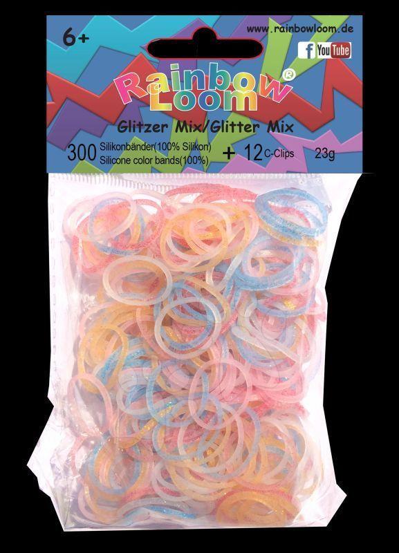 Rainbow Loom originální gumičky třpytivý mix 300 kusů od 6 let