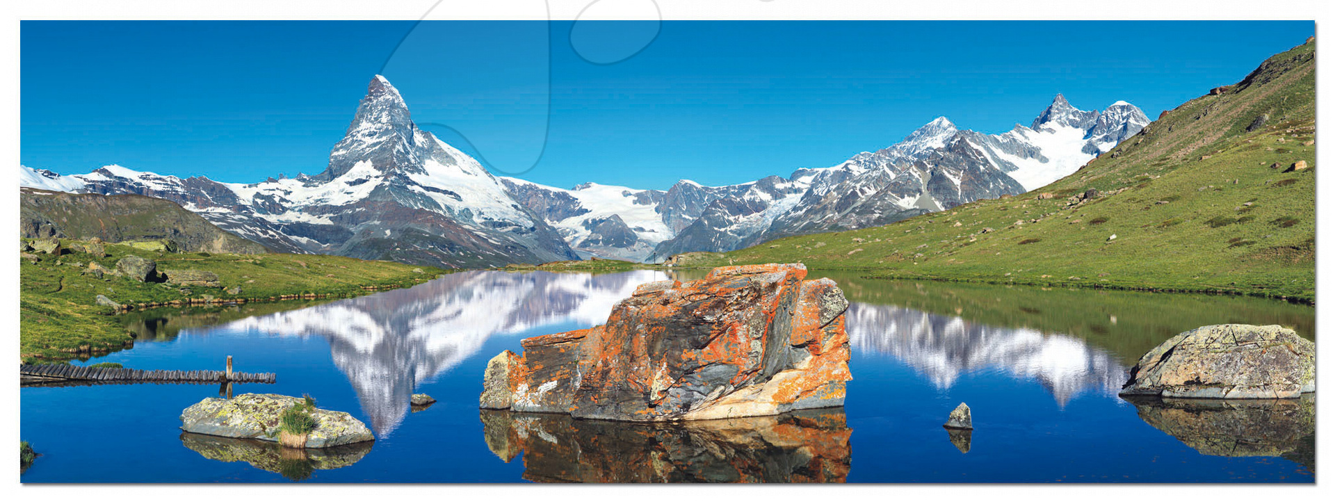 Panorama puzzle - PUZZLE Panorama Matterhorn Alps Educa 1000 dílků a FIX PUZZLE LEPIDLO