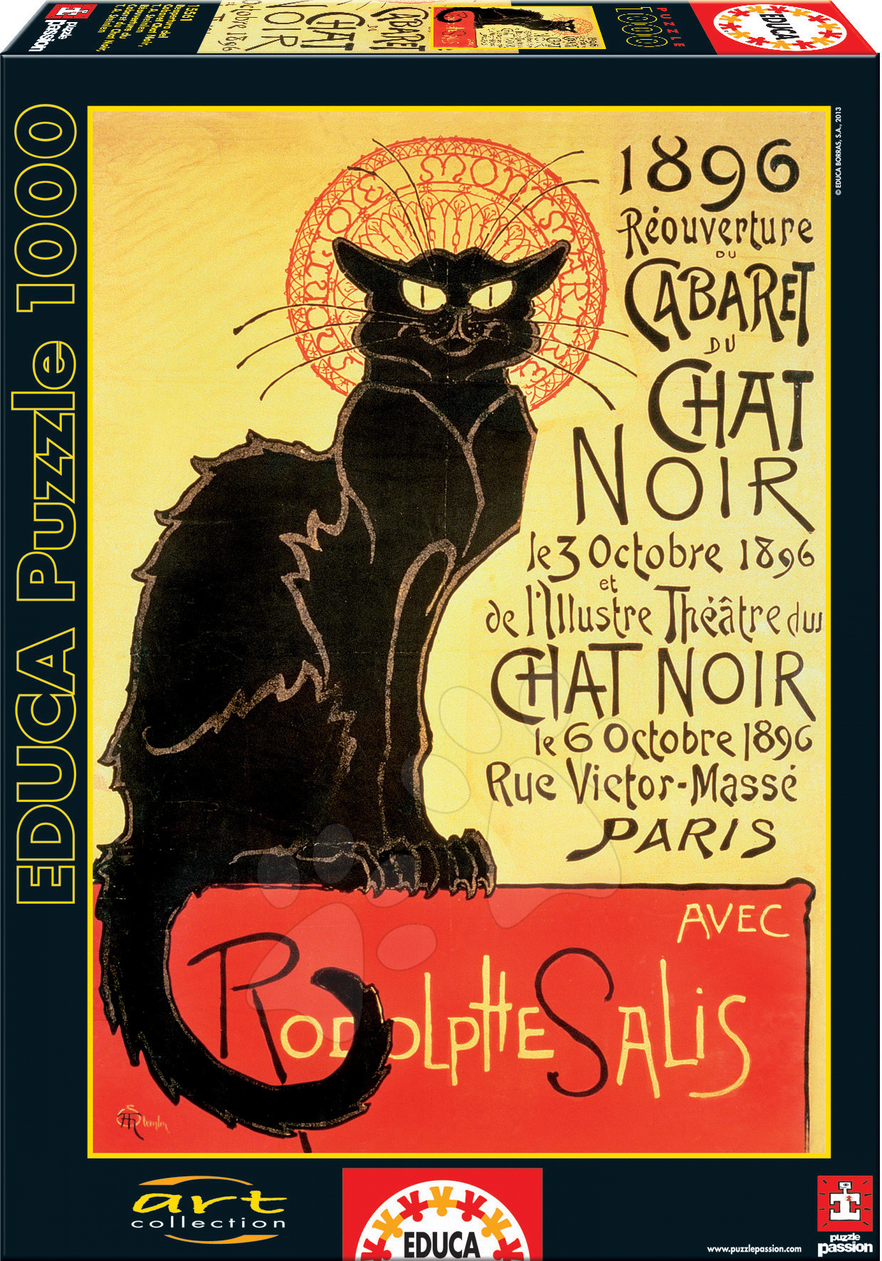 Puzzle Art Reopening of The Chat Noir Cabaret Educa 1000 dielov od 12 rokov