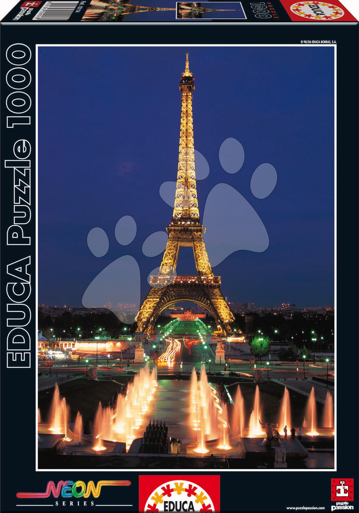 Puzzle Neon Eiffel Tower Educa 1000 dílků od 12 let