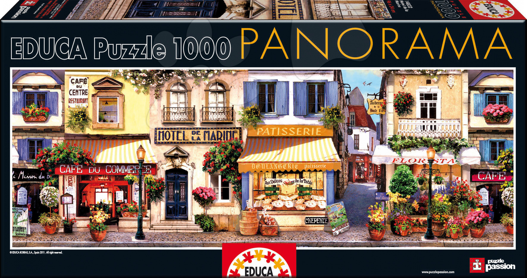 Puzzle Panorama Motel de La Marine Educa 1000 delov od 12 leta