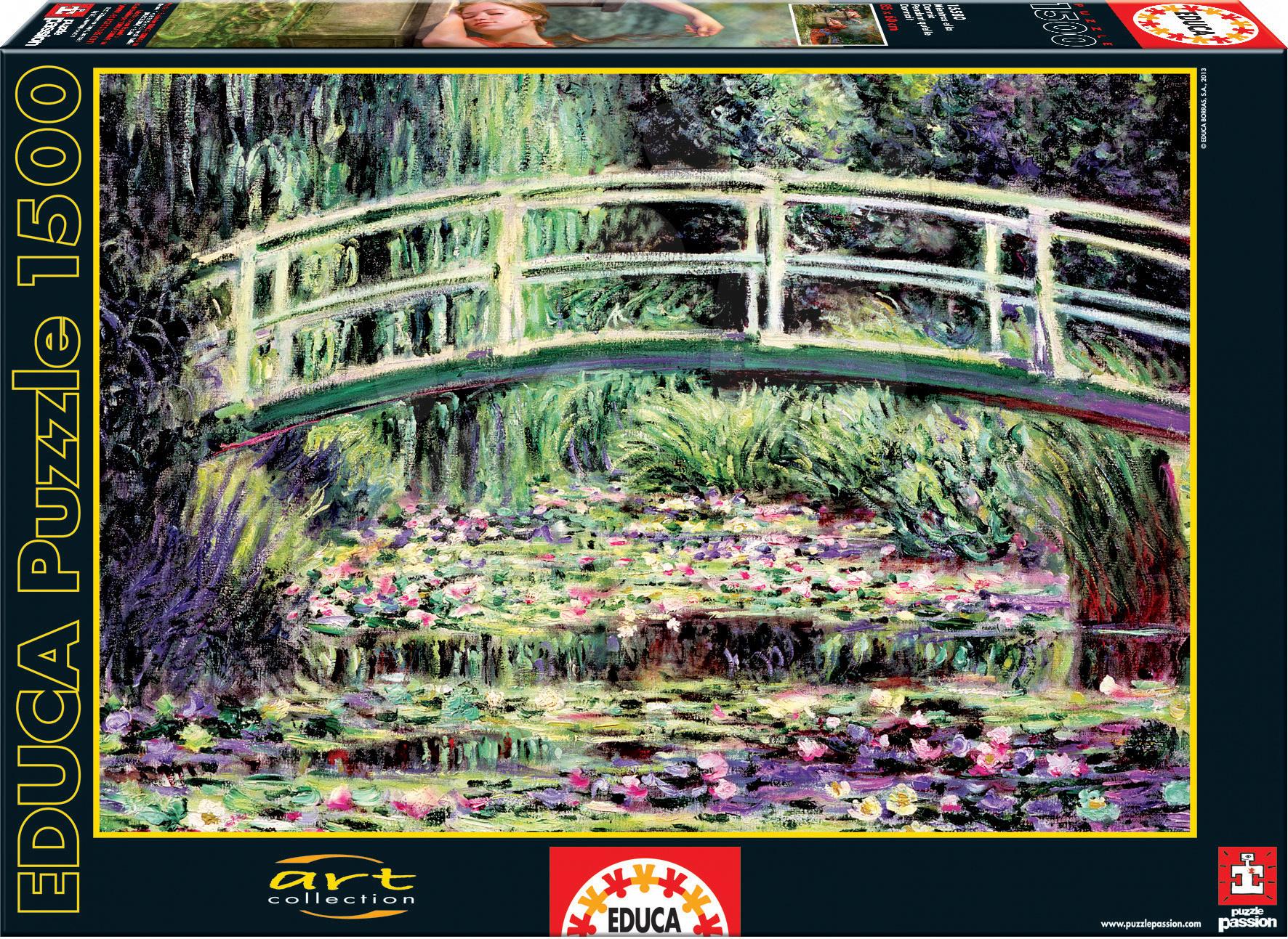 Puzzle Art White Water Lilies, Claude Monet Educa 1500 dielov