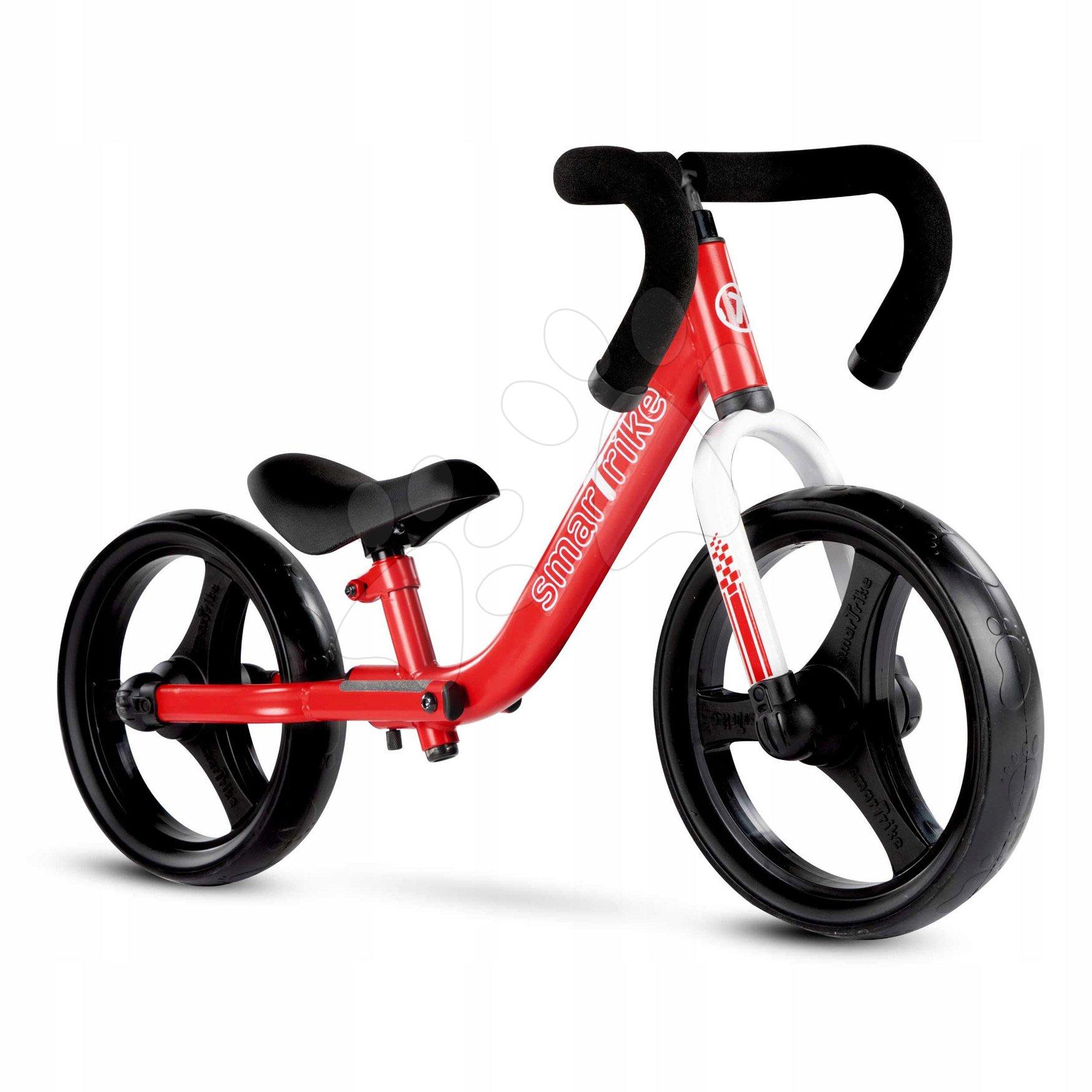 Odrážadlá od 18 mesiacov - Balančné odrážadlo skladacie Folding Balance Bike Red smarTrike z hliníka s ergonomickými úchytmi od 2-5 rokov