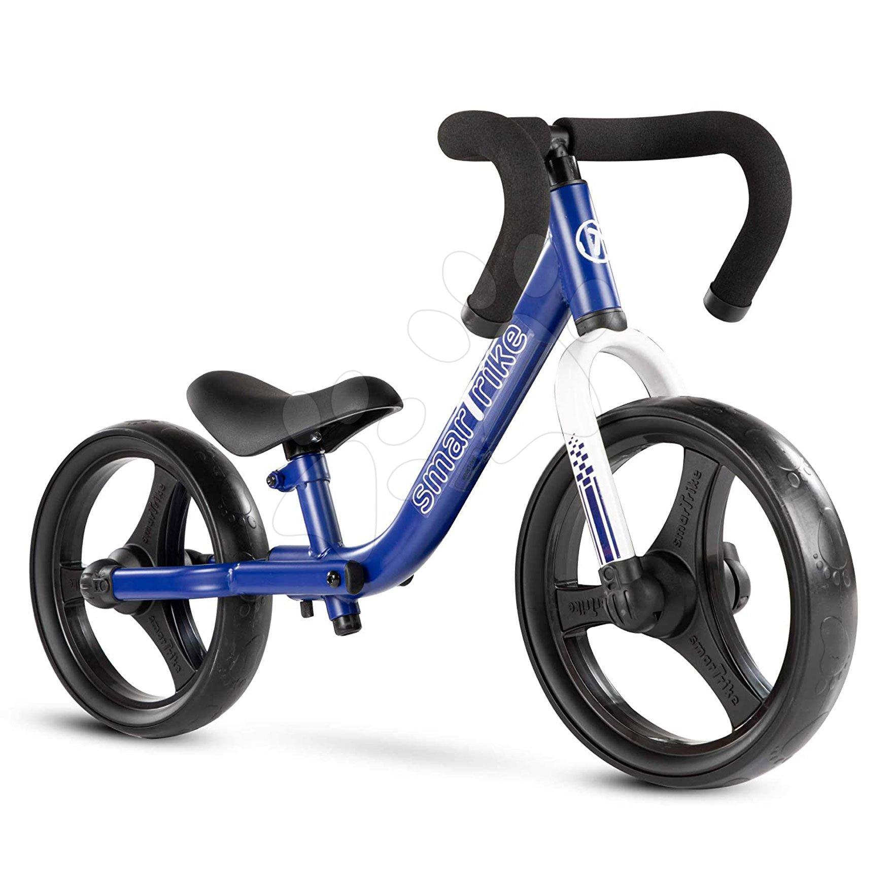 Odrážadlá od 18 mesiacov - Balančné odrážadlo skladacie Folding Balance Bike Blue smarTrike z hliníka s ergonomickými úchytmi od 2-5 rokov