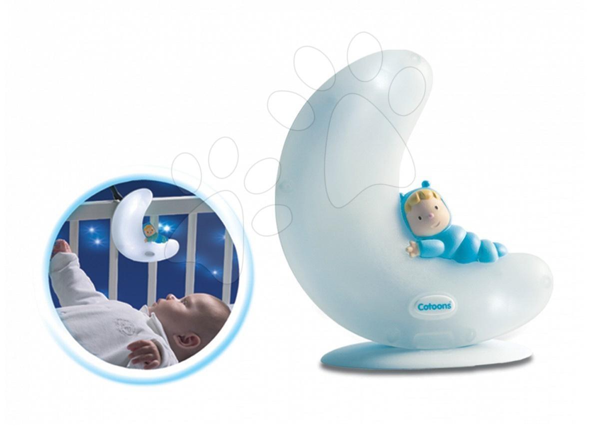 Svítící měsíček Good night Cotoons Smoby modrý pro kojence