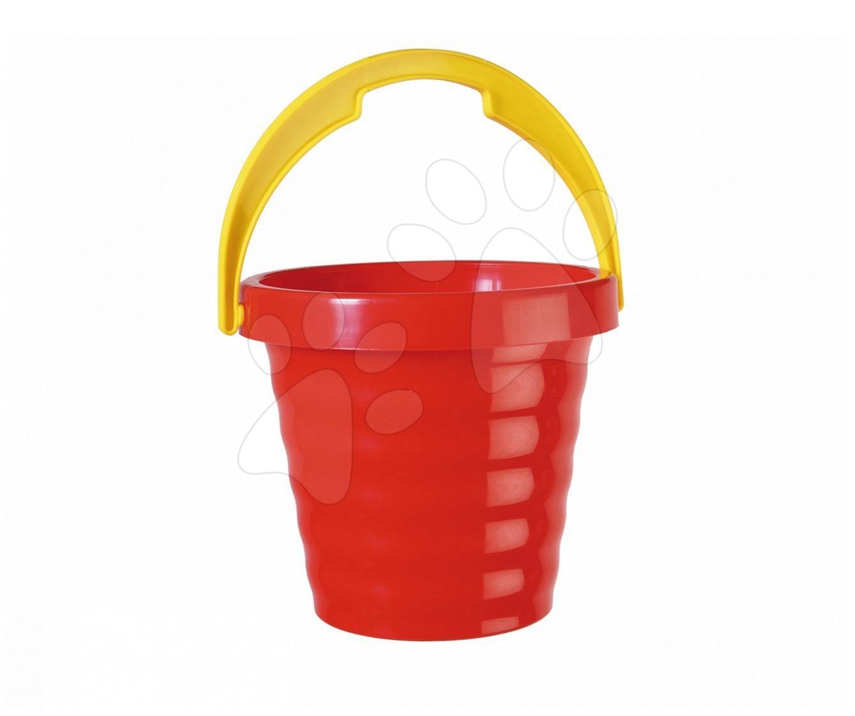 Kbelíky do písku - Kbelík vlnitý Dohány červený 18 cm