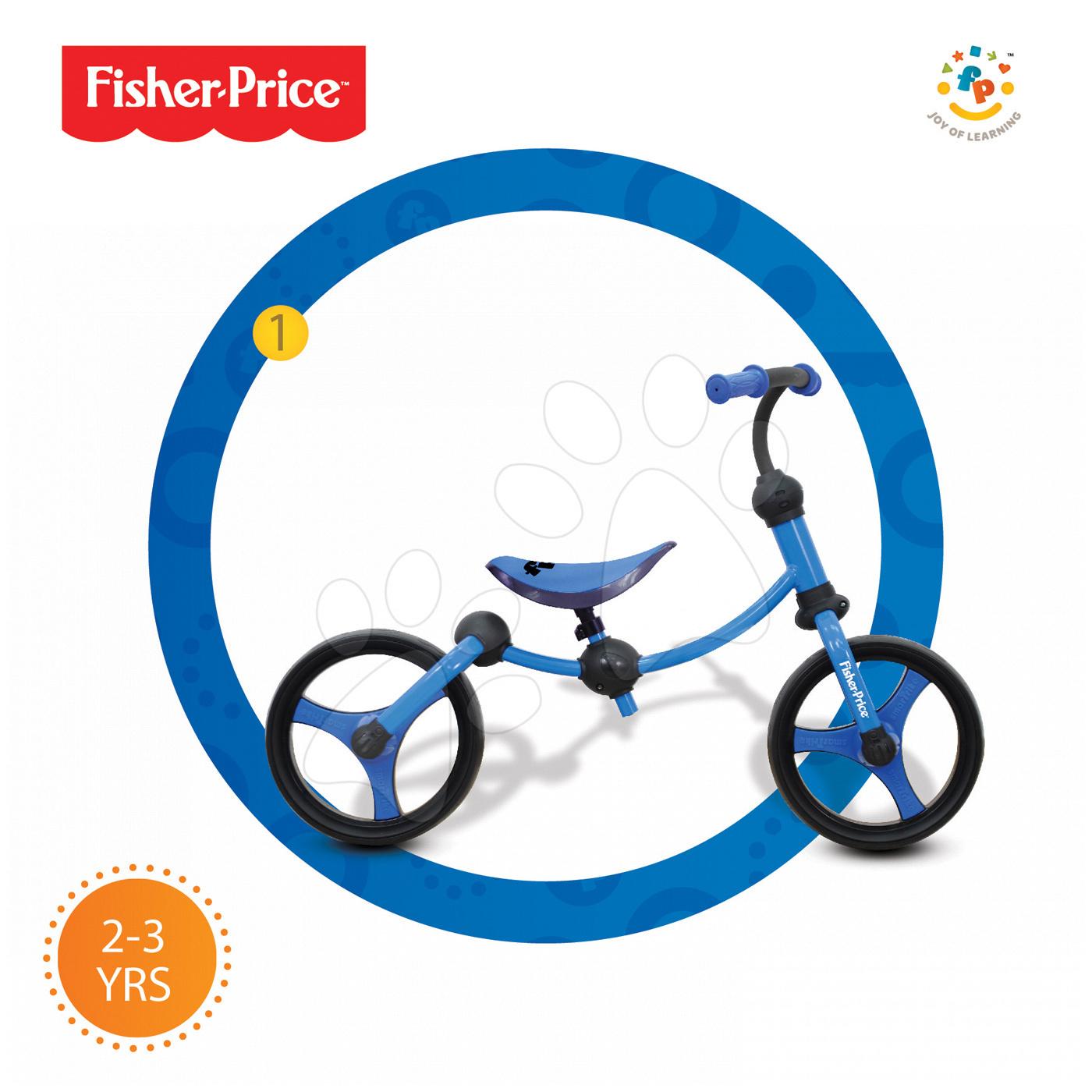 Balanční odrážedlo Fisher-Price Running Bike 2v1 smarTrike modro-černé od 24 měsíců