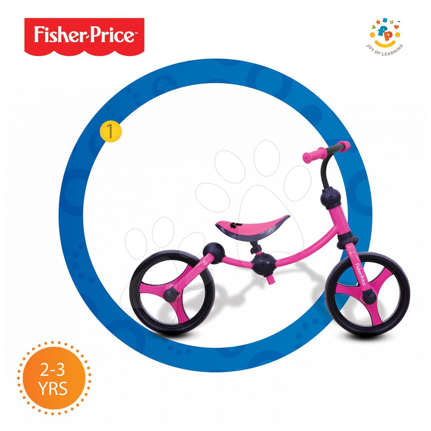 smarTrike detské odrážadlo Fisher-Price Running Bike 2v1 1050233 ružovo-čierne