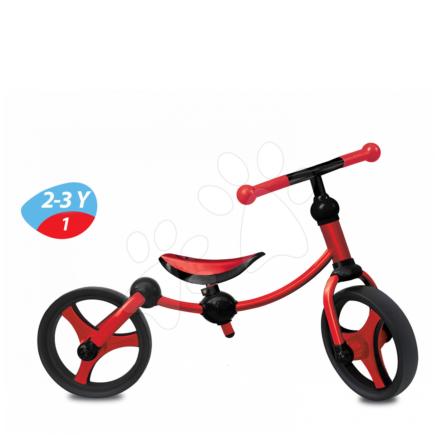 Odrážedlo Running Bike 2v1 smarTrike červeno-černé od 24 měsíců