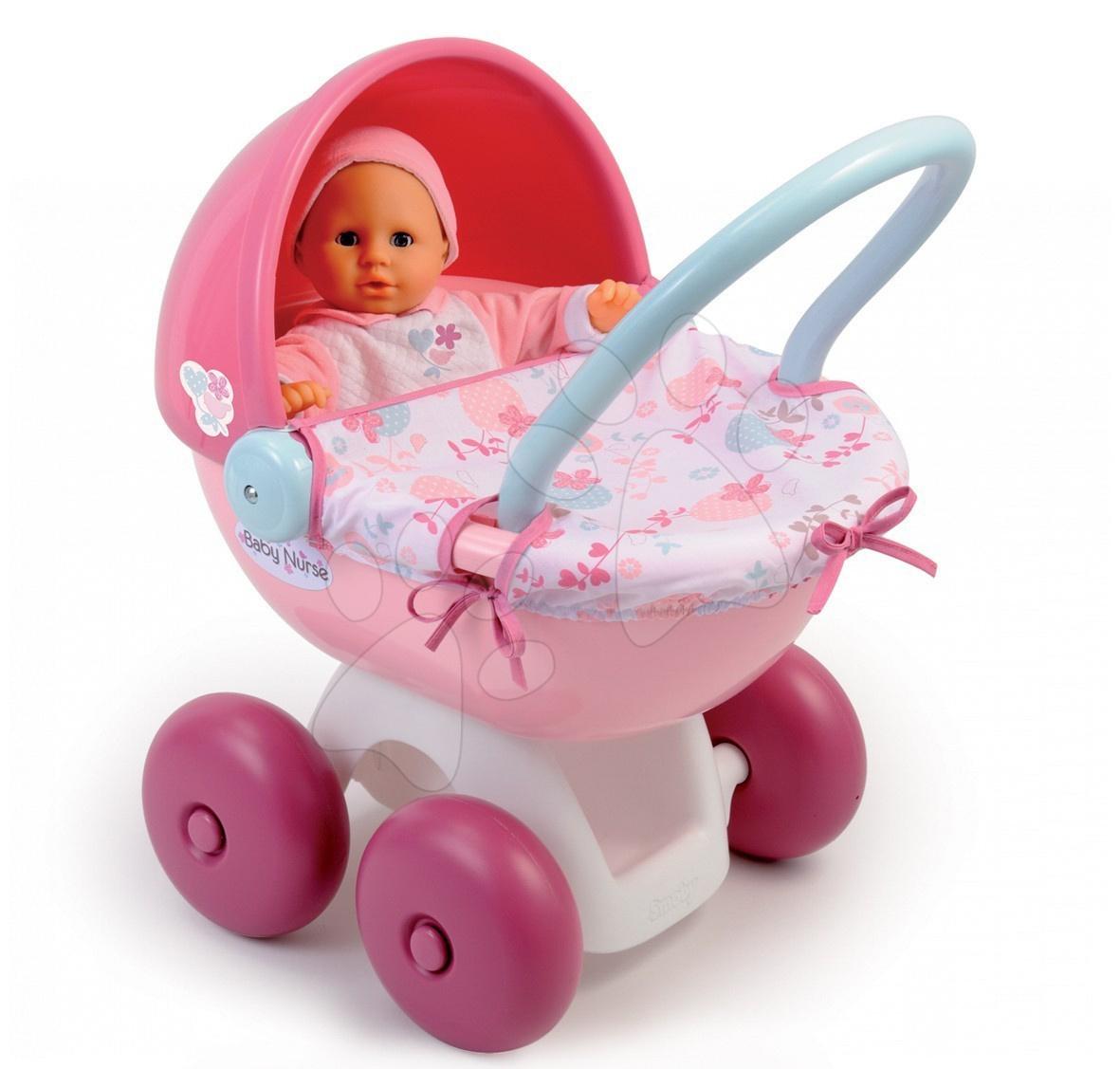 Kočík pre bábiku Baby Nurse Smoby hlboký oválny (55 cm rúčka) od 18 mes