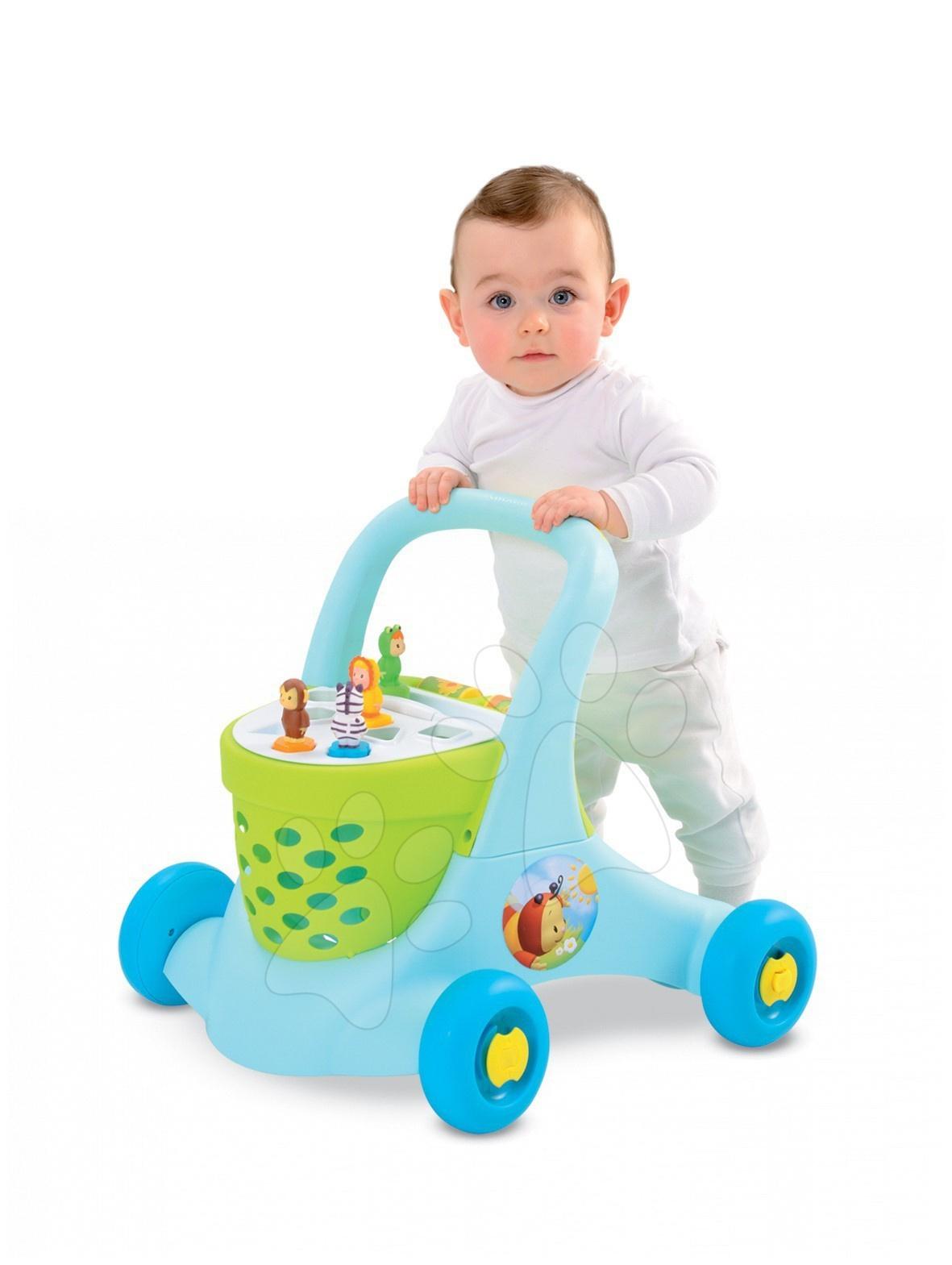 Vozík chodítko Cotoons Trott Smoby modré od 12 měsíců