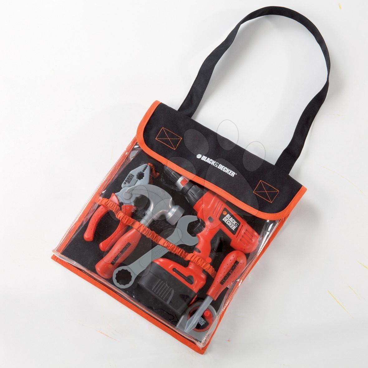 Dětská sada nářadí Black & Decker Smoby v tašce s mechanickou vrtačkou