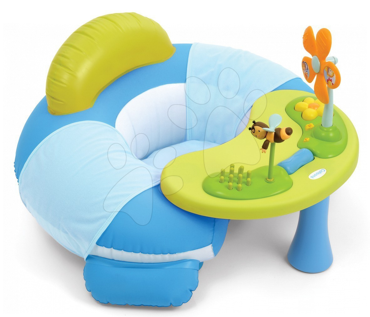 Sedátko so stolíkom Cotoons Cosy Seat Smoby s didaktickým stolíkom modré od 6 mes