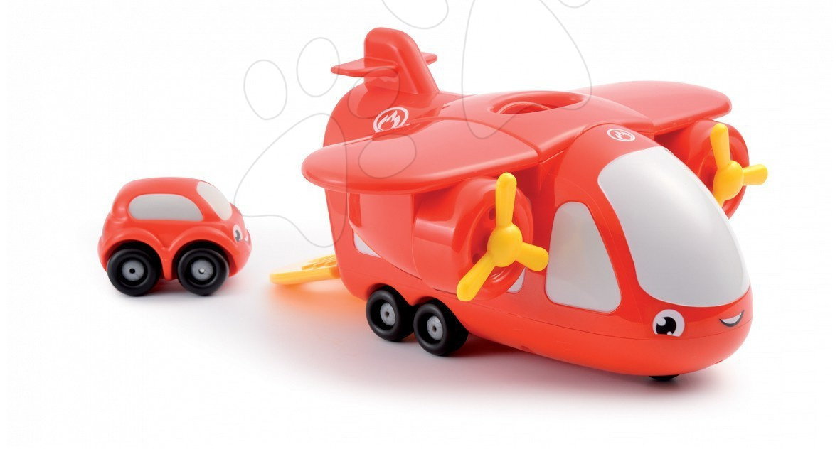 Staré položky - Vroom Planet hasičské lietadlo s autom Smoby od 18 mes