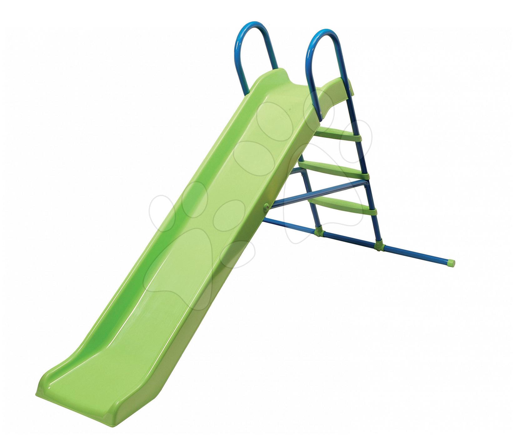 Tobogane pentru copii - Tobogan Starplast drept cu structură metalică verde