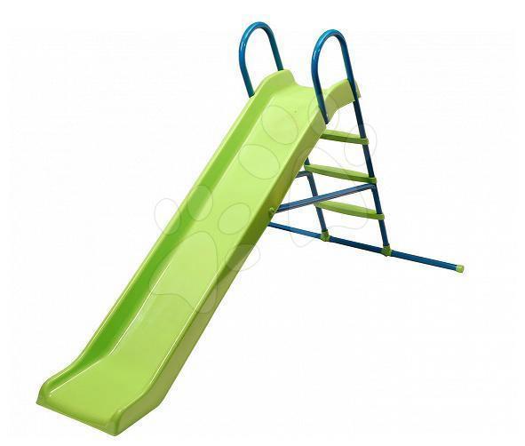 Šmykľavky pre deti  - Šmykľavka Starplast dĺžka 210 cm rovná s kovovou konštrukciou a napojením na vodu zelená