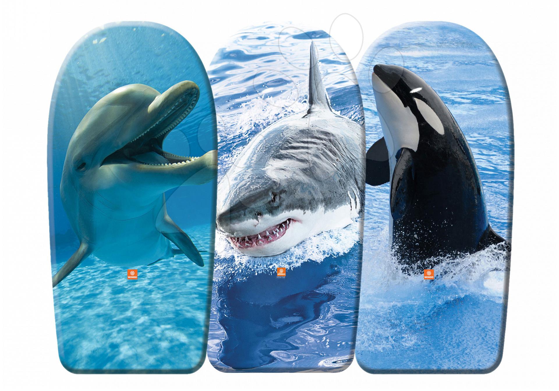 Doska na plávanie penová Mondo 104 cm morská hviezda/delfín/žralok 3 kusy