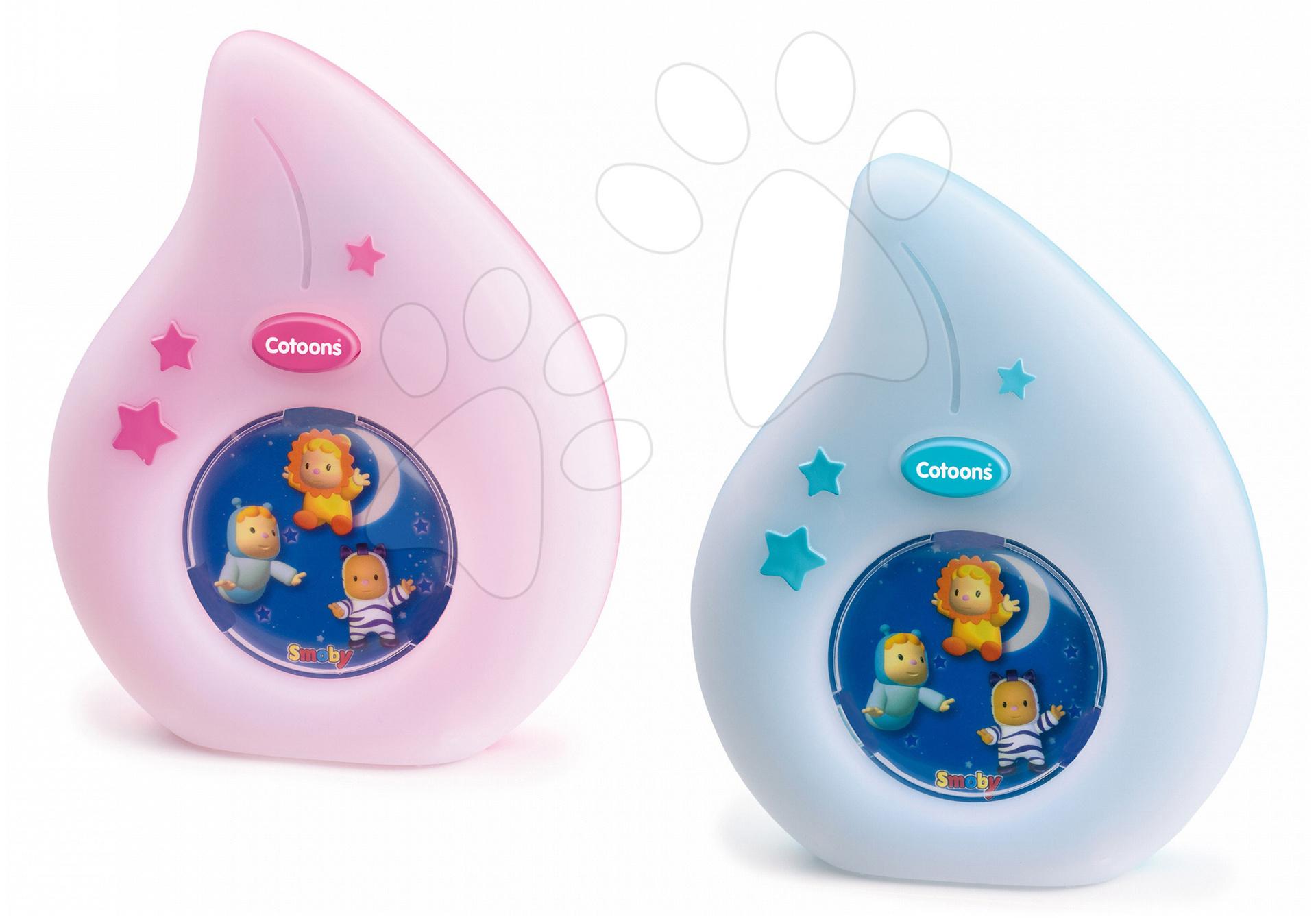Hračky nad postieľku - Nočné svetlo do postieľky Cotoons Smoby pre najmenších modré/ružové