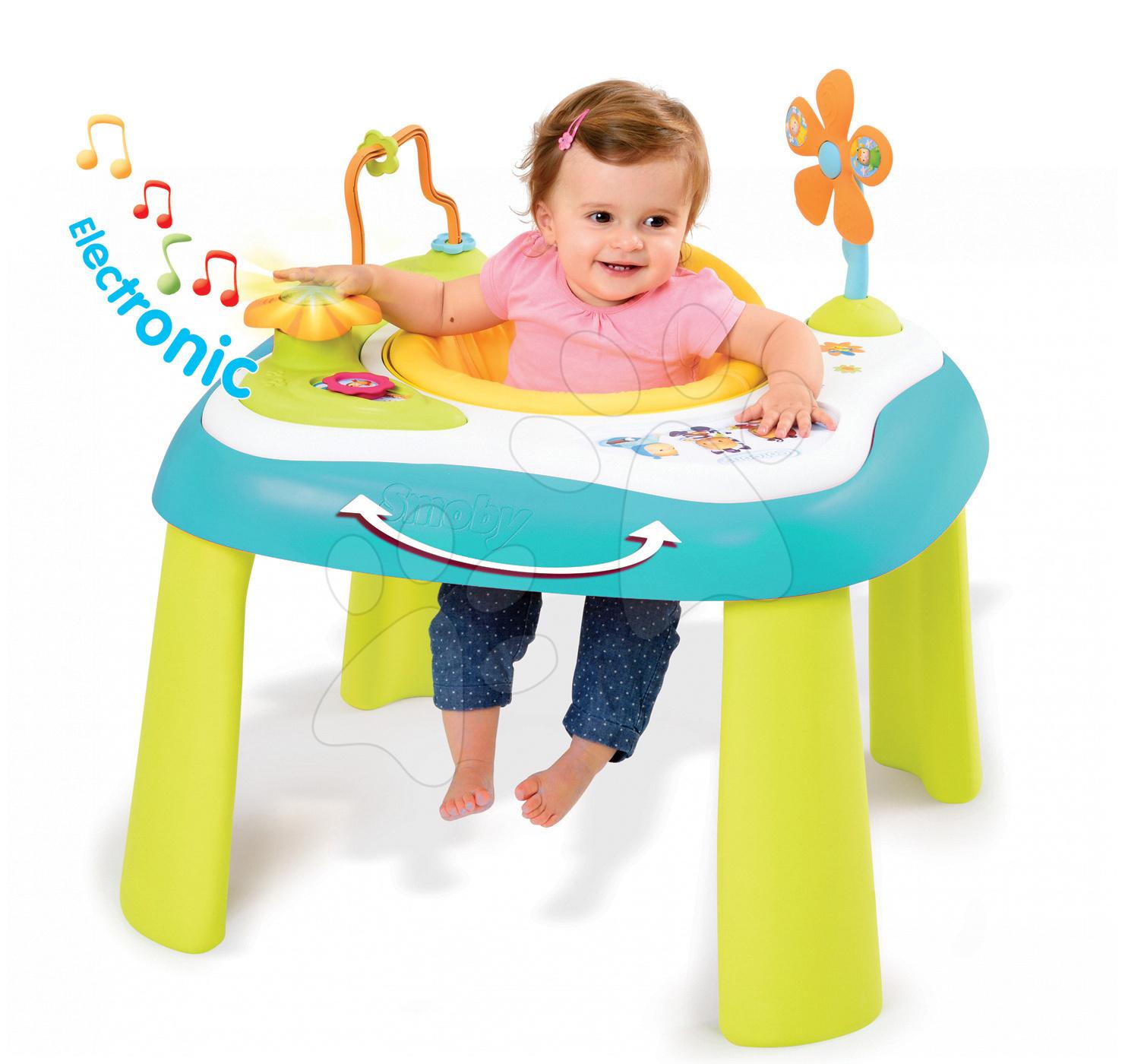 Didaktický stolek Cotoons Youp Smoby multifunkční modrý od 6 měsíců