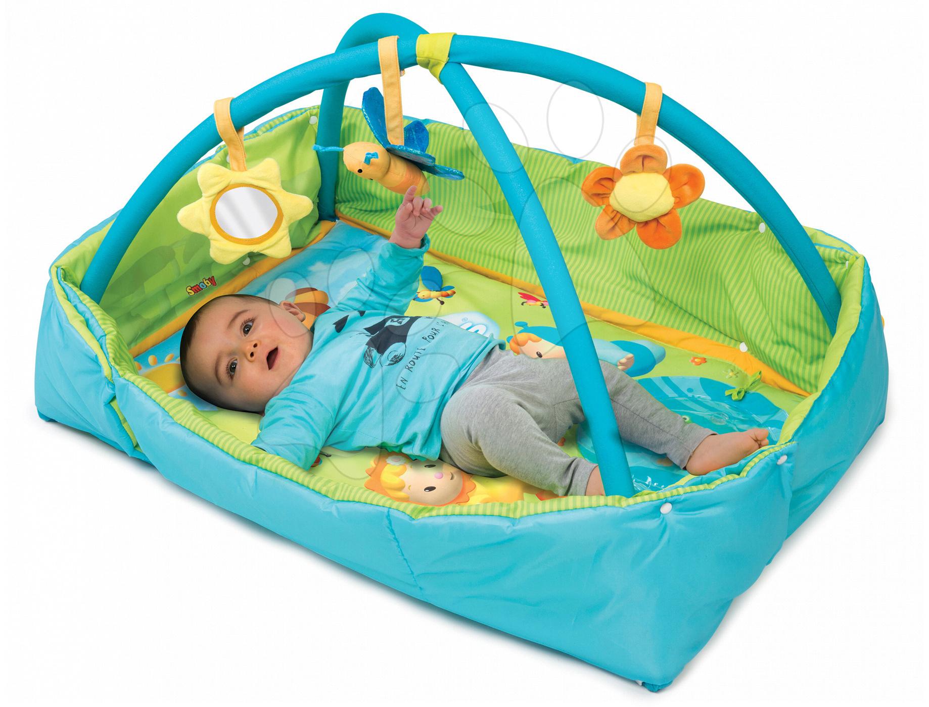 Smoby hracia deka pre deti Cotoons Discovery 110213-1 modrá