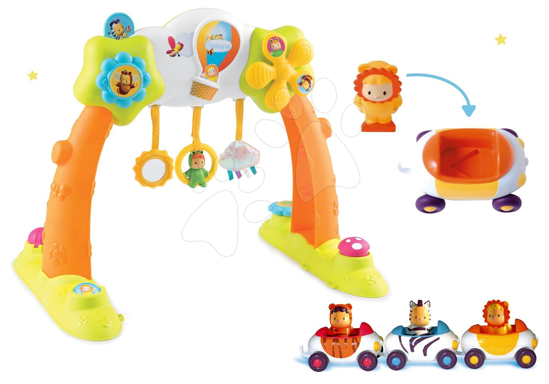 Set hrazda Arch Cotoons Smoby 2v1 elektronická a autíčka Imagin Car Cotoons