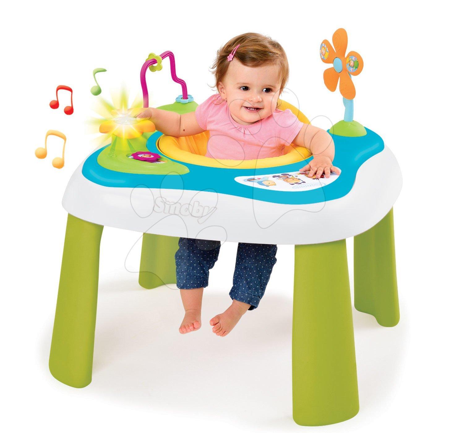 Hračky pro miminka - Didaktický stolek Youpi Baby Smoby elektronický se zvukem a světlem od 6 měsíců