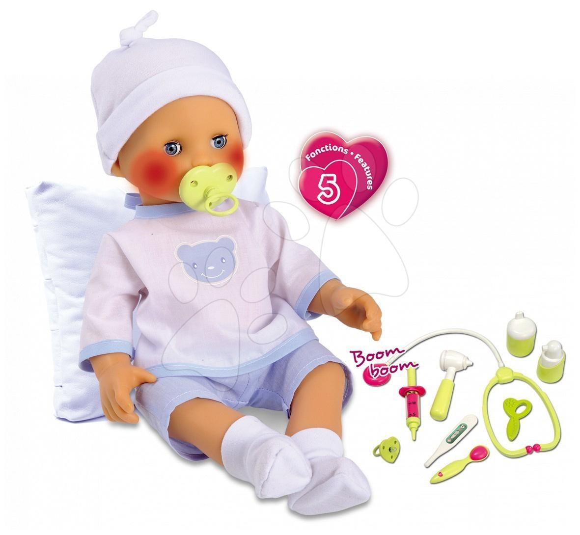 Staré položky - Baby Nurse panenka s dudlíkem Doktor Smoby 40 cm zvuková na baterii