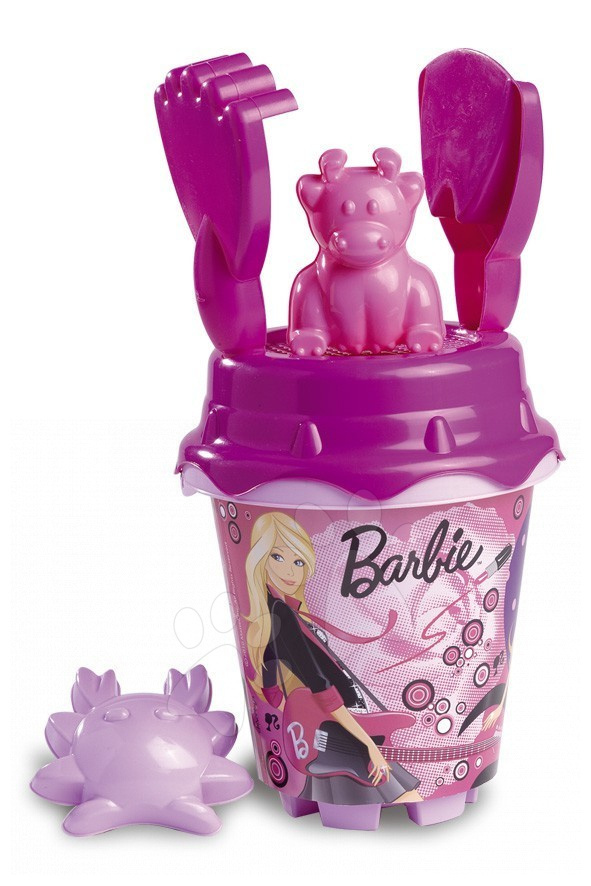 Staré položky - Set do písku kbelík Barbie Divertoys 6 ks