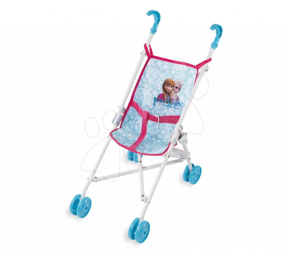 Dětský kočárek pro panenku Frozen Smoby skládací bugina (58 cm ručka) od 18 měsíců