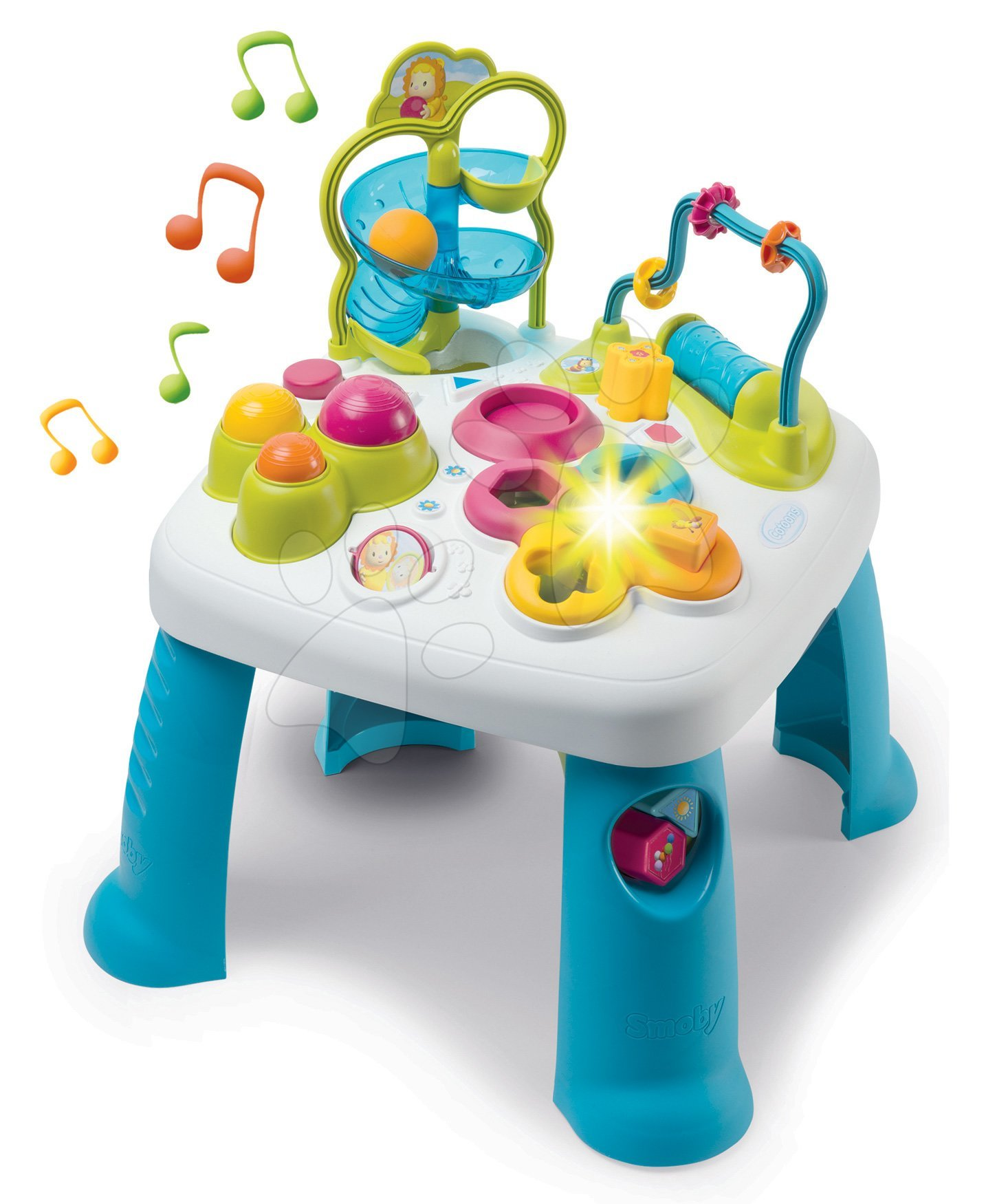 Készségfejlesztő asztalka Activity Table Cotoons Smoby hanggal, fénnyel és rengeteg funkcióval 12 hó-tól