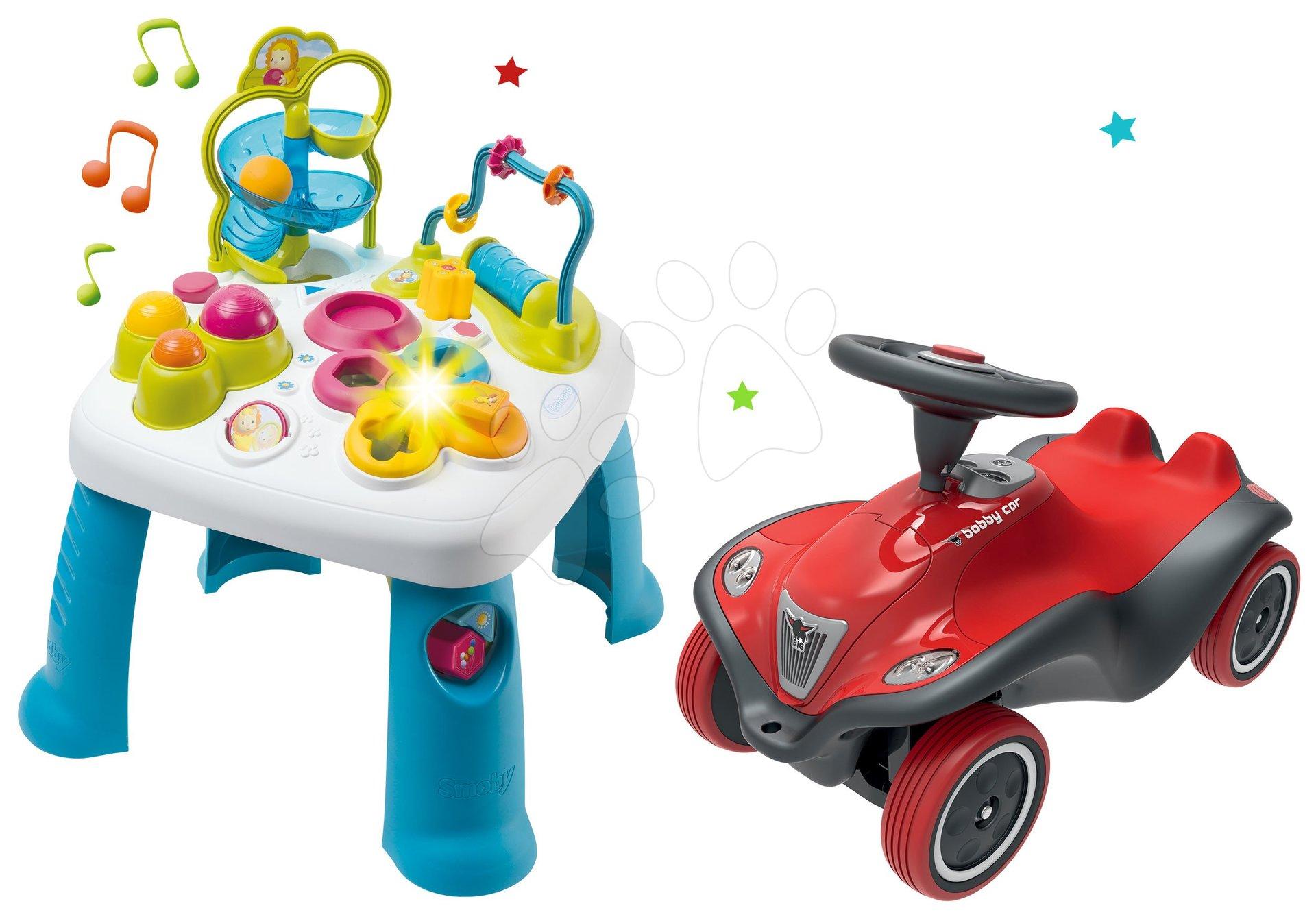 Set didaktický stôl Activity Table Cotoons Smoby so zvukom svetlom a odrážadlo auto Next Bobby Car so zvukom a svetlom