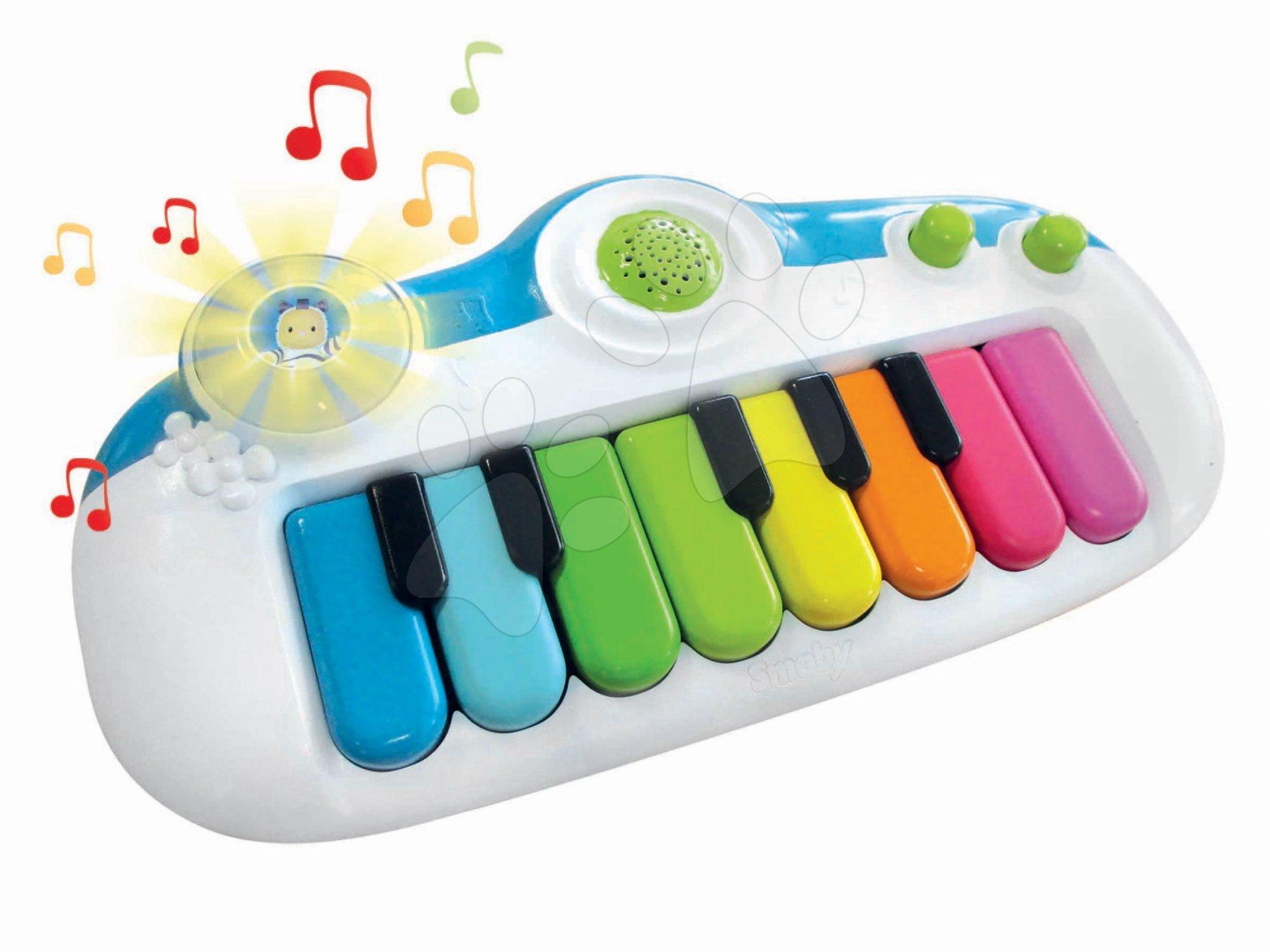 Piano elektronické Cotoons Smoby so 16 melódiami a svetlom