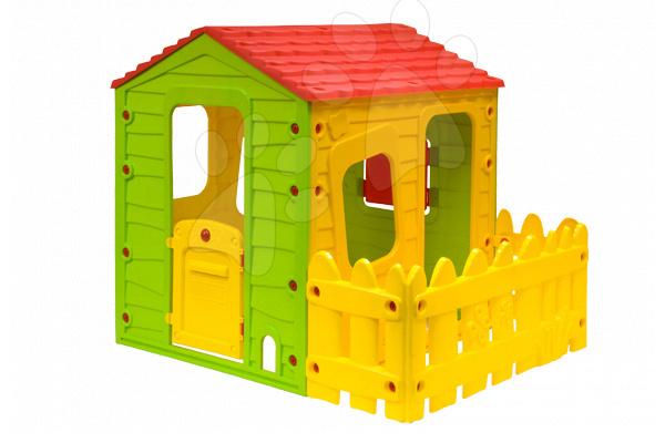 Domčeky pre deti - Domček Fun Farm Starplast s plotom na jednej strane