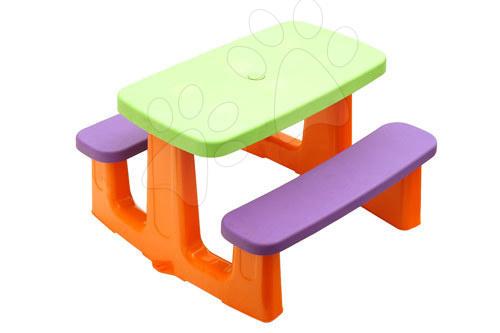 Detský záhradný nábytok - Stôl na hranie Starplast s dvoma lavičkami s dvoma lavičkami