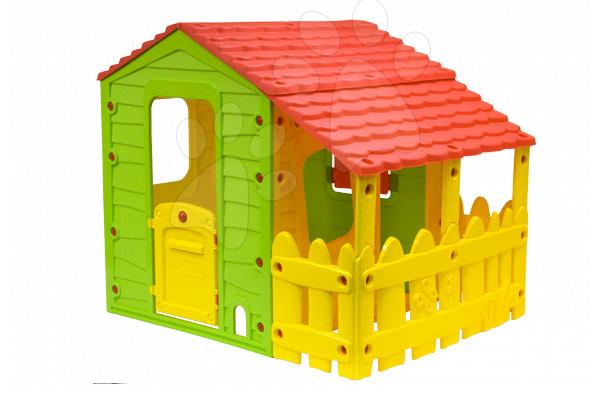 Domčeky pre deti - Domček Fun Farm Starplast s plotom a strechou na jednej strane od 24 mes