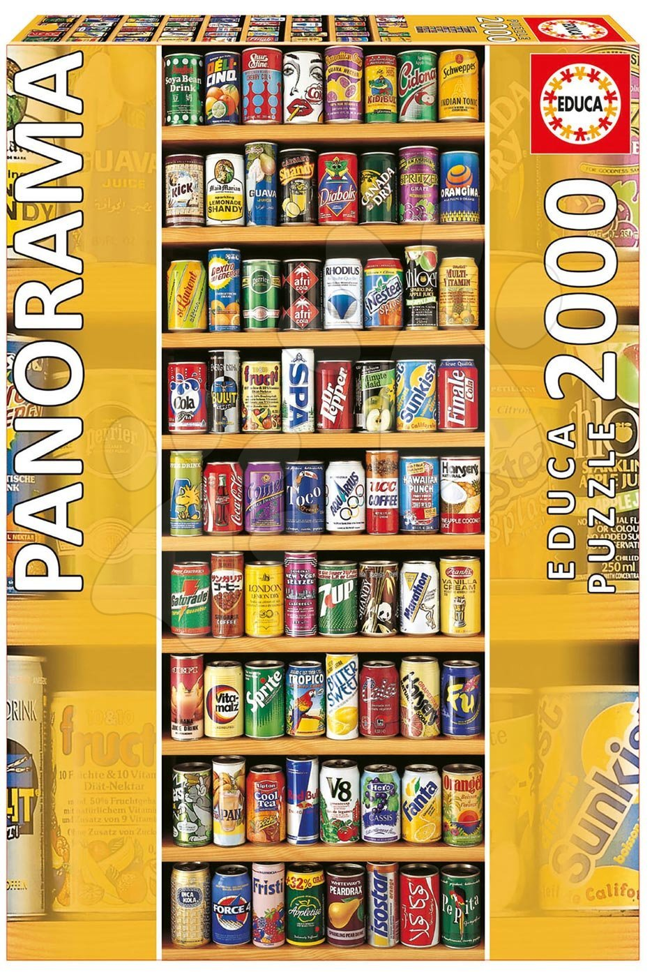 Educa Puzzle Panorama Soft Cans 2000 dielikov 11053 farebné
