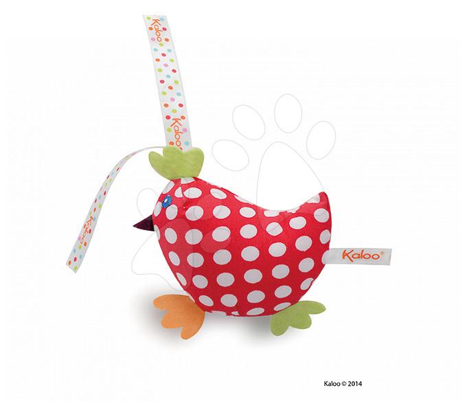 Plyšové kuřátko Colors-Mini Musicals Kaloo zpívající 12 cm pro nejmenší tečkované