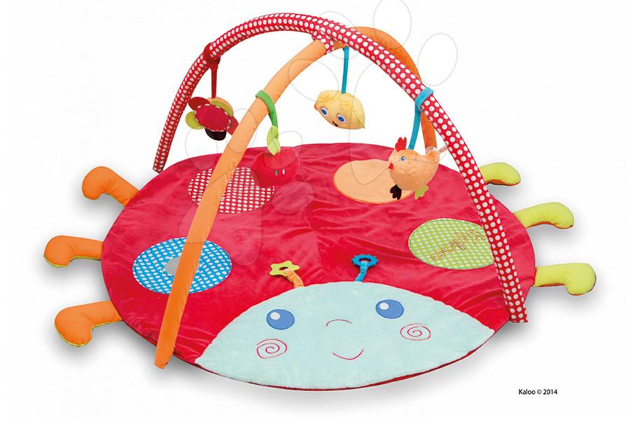 Plyšová deka Colors-Activity Playmate Ladybug Kaloo multifunkční s hrazdičkou pro nejmenší