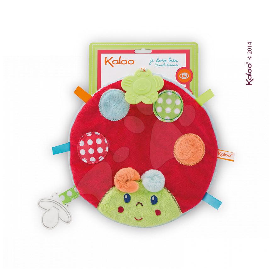 Hrkálky a hryzátka - Plyšová lienka Colors-My Sweet Doudou Ladybug Kaloo s hryzátkom 25 cm pre najmenších