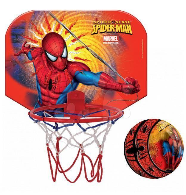 Basketbalový kôš Spiderman Mondo na stenu s loptou priemer koša 19 cm