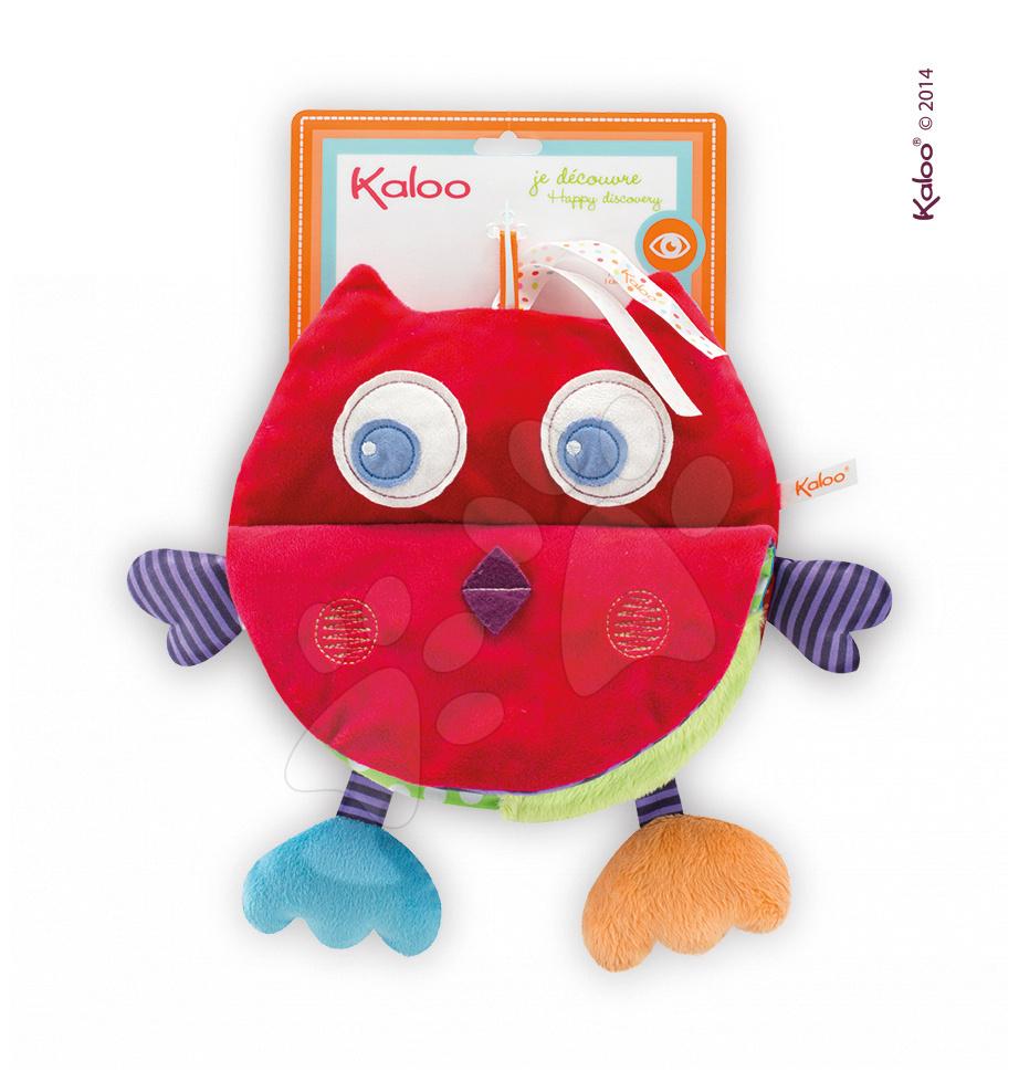 Plyšová knížka sovička Colors-My Activity Book Owl Kaloo šustící 25 cm pro nejmenší