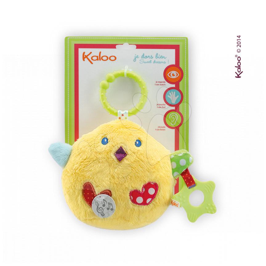 Plyšové kuřátko Colors-My Singing Chick Kaloo zpívající s kousátkem 25 cm pro nejmenší