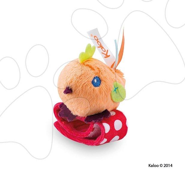 Hrkálky a hryzátka - Plyšová hrkálka kuriatko Colors-Rattle Bracelets Kaloo s náramkom 12 cm pre najmenších