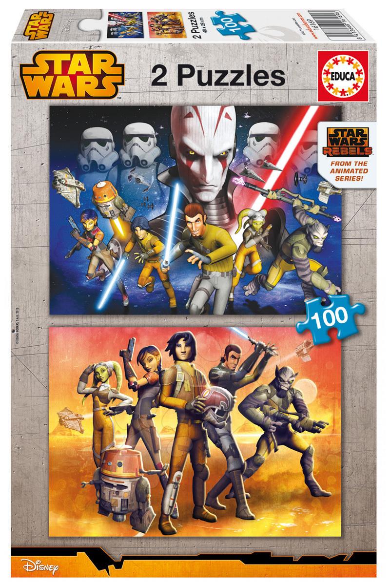Detské puzzle od 100-300 dielov - Puzzle Star Wars Educa 2x 100 dielov od 5 rokov