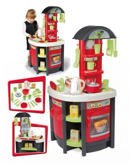 Studio Tefal Kitchen Smoby elektrická červeno-šedá s rychlovarnou konvicí