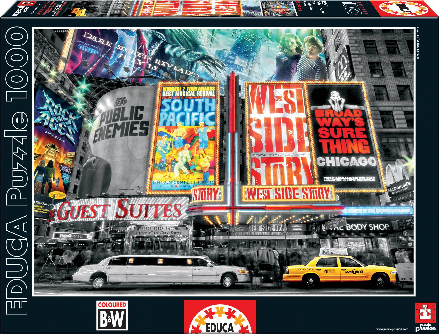 Puzzle New York Theatre Signs Educa 1000 dielov od 12 rokov
