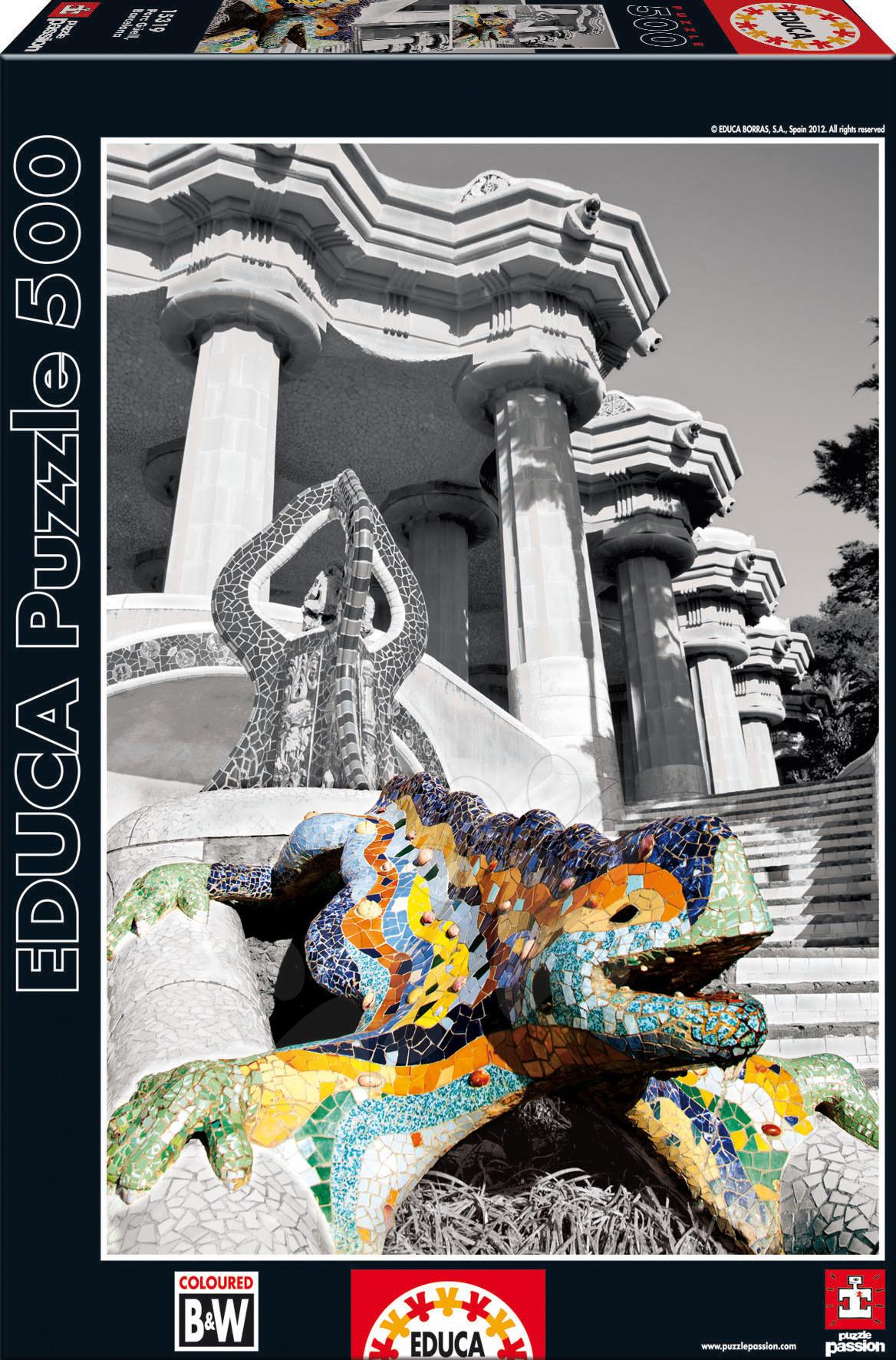 Puzzle Barcelona Park Güell Educa 500 dielov od 11 rokov