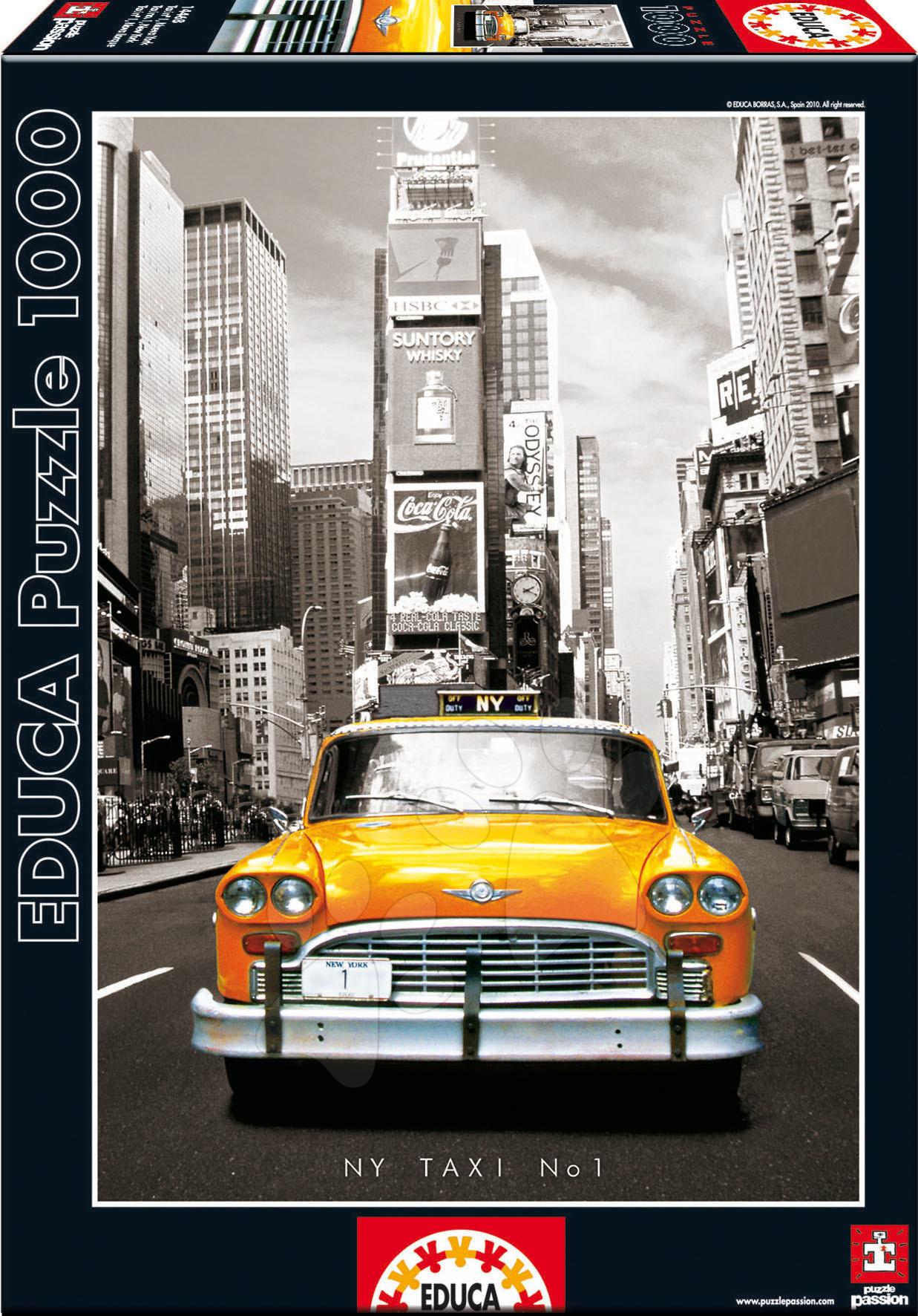 Puzzle cu 1000 de bucăți - Puzzle Taxi no. 1 Educa 1000 de piese de la 12 ani