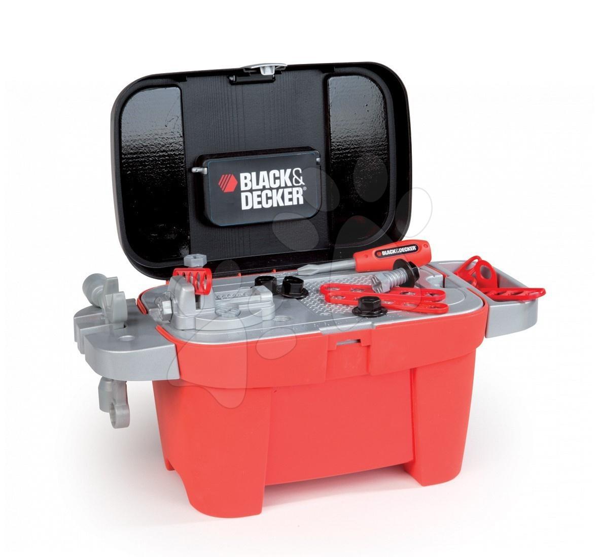 Pracovní dílna Black&Decker Tool 2v1 Smoby v kufříku s 18 doplňky